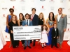 Andres Asion Foundation check for $25,000 presented to St. Jude Children's Research Hospital.