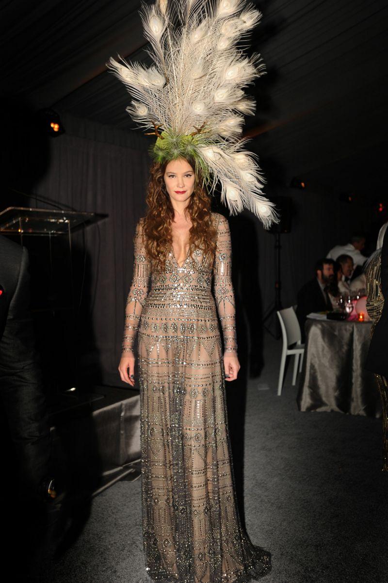 Supermodel Ines Rivero in Naeem Khan WRE