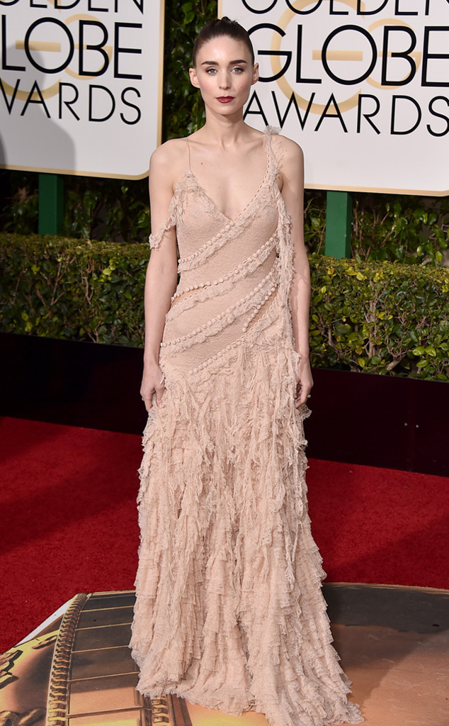 UNDERWHELMING Rooney Mara in Alexander McQueen