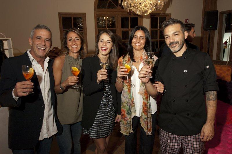 2  Guests  With  Far  Right  Michelle  Halfon  Chef  Wendi  From  Villa  Emilia  Restaurant