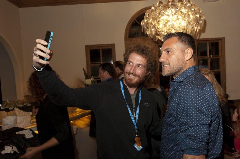 A  Selfie  With  Soccer  Star  Bobo  Vieri