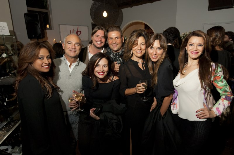 A  The  Chic  Crowd  At  The  Hub  Stores  Opening
