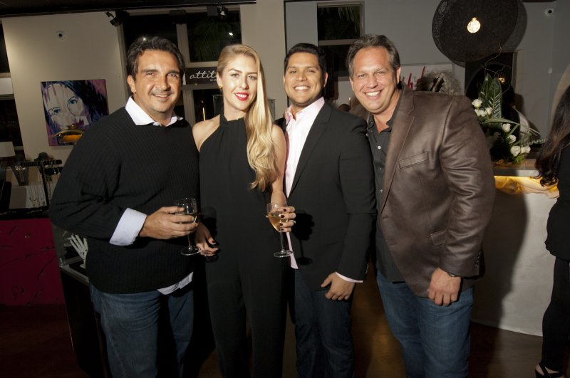 Guests  At  Hub  Stores  Opening  Party