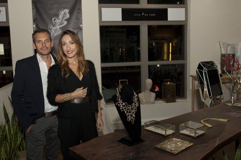 Marc  Di  Maggio  Valentina  Mazzei  From  Cuja  De  Vere  Jewelry  At  The  Hub  Stores