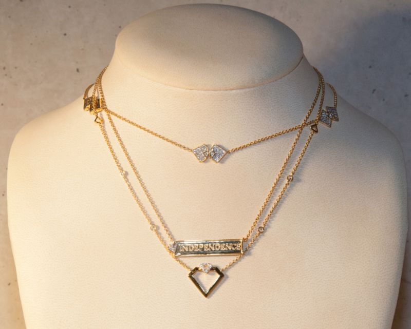 Diamonds Unleashed necklaces