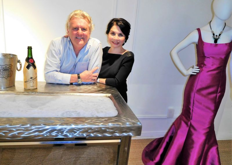 Designer Mayda Cisneros with husband Terje Lundaas