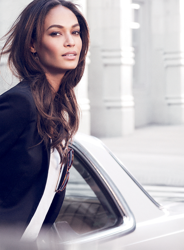 Joan Smalls in Estee Lauder Double Wear