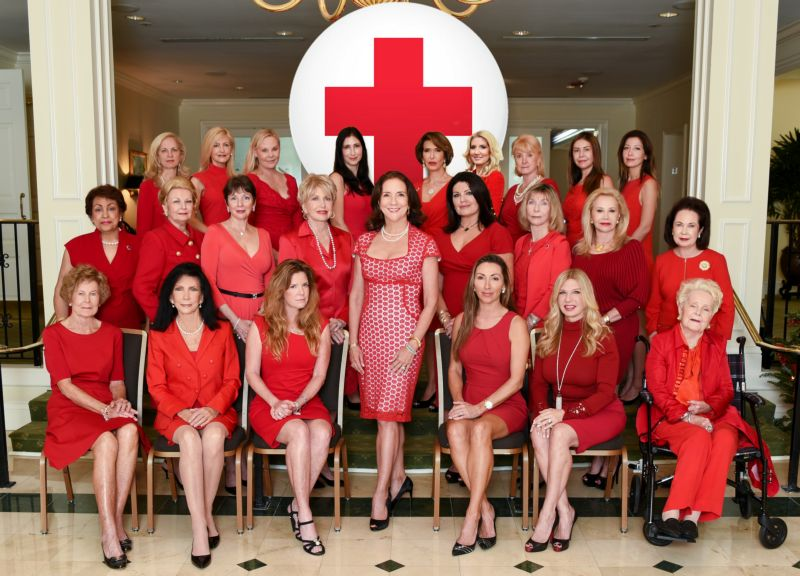Red Cross Ball Committee 2016 with Chair Linda Levy Goldberg at Riviera Country Club
