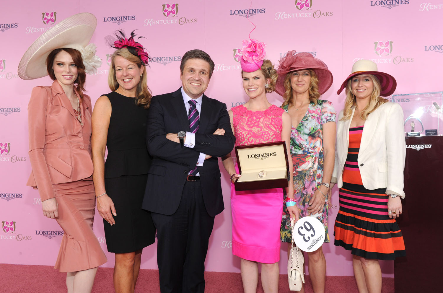 Kentucky Derby 2013. Model Coco Rocha, Jennifer Judkins, Juan-Carlos Capelli, Suzy Buckley Woodward, Stefanie Graf, Joyann King