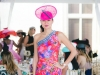 Criselda Breene in Ungaro and Shapoh.com fascinator