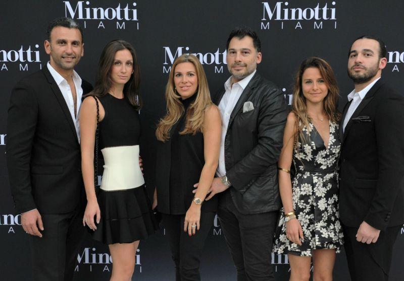 MINOTTI 1 LEAD  Siamak & Dalia Hakakian, Karina & Babak Hakakian, Maeva Biasioli, Danny Hakakian